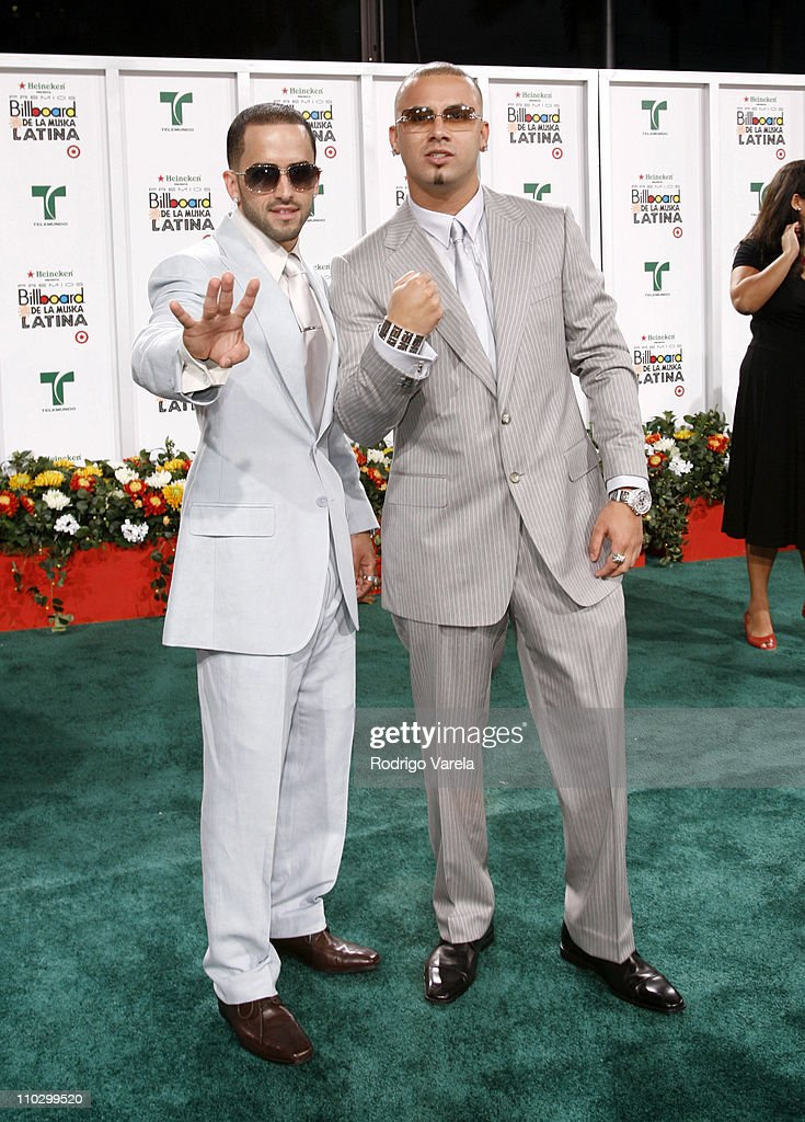 Wisin Yandel during Billboard Latin Music Conference and Awards 2007 Arrivals at Bank United Center in Coral Gables Florida United States