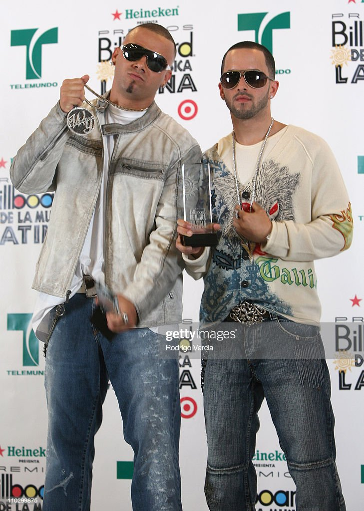 Wisin Yandel during Billboard Latin Music Conference and Awards 2007 Press Room at Bank United Center in Coral Gables Florida United States
