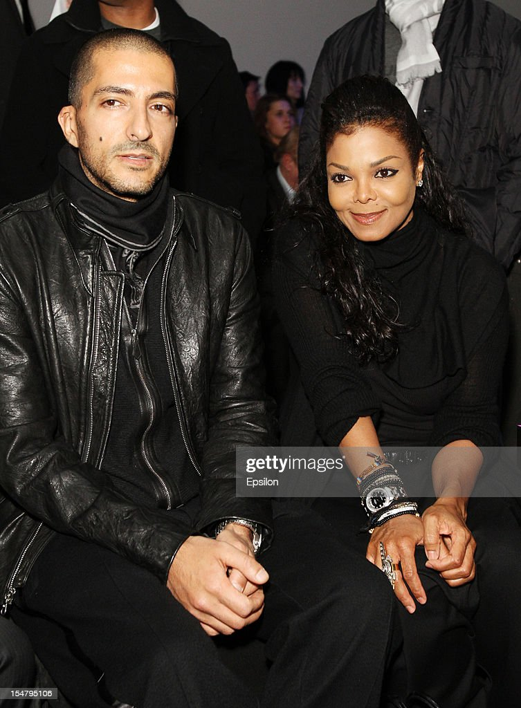 Wissam Al Mana and <a gi-track='captionPersonalityLinkClicked' href=/galleries/search?phrase=Janet+Jackson&family=editorial&specificpeople=156414 ng-click='$event.stopPropagation()'>Janet Jackson</a> attend Kira Plastinina's fashion show on October 25, 2012 in Moscow, Russia.