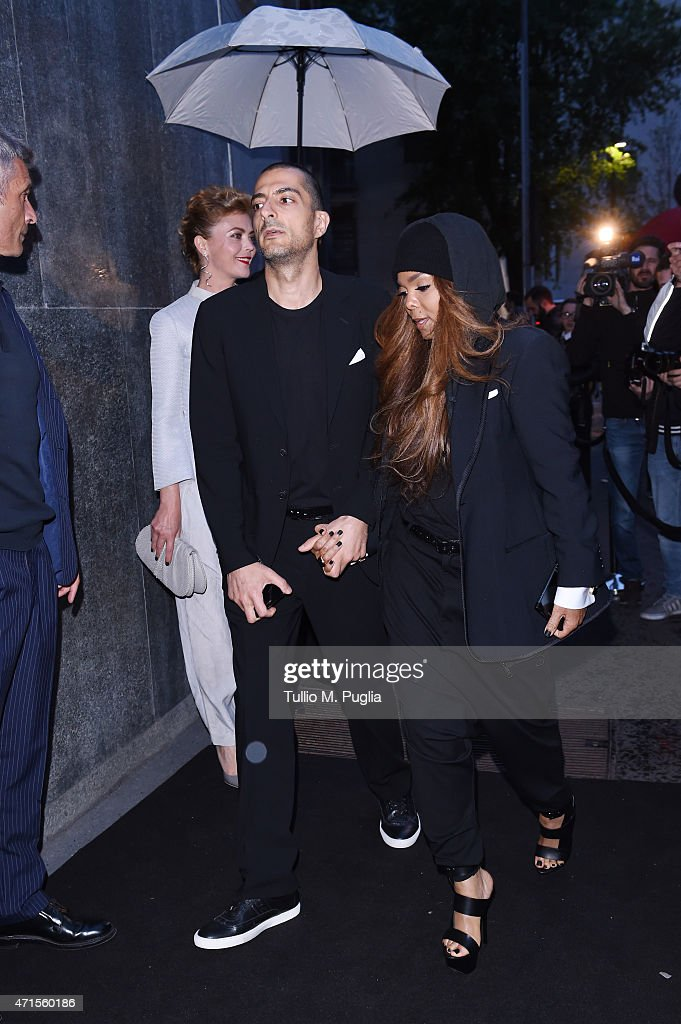 Wissam Al Mana and <a gi-track='captionPersonalityLinkClicked' href=/galleries/search?phrase=Janet+Jackson&family=editorial&specificpeople=156414 ng-click='$event.stopPropagation()'>Janet Jackson</a> attend the Giorgio Armani 40th Anniversary Dinner Reception at Nobu on April 29, 2015 in Milan, Italy.