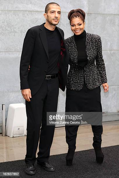 Wissam al Mana and Janet Jackson attend the Giorgio Armani fashion show during Milan Fashion Week Womenswear Fall/Winter 2013/14 on February 25 2013...