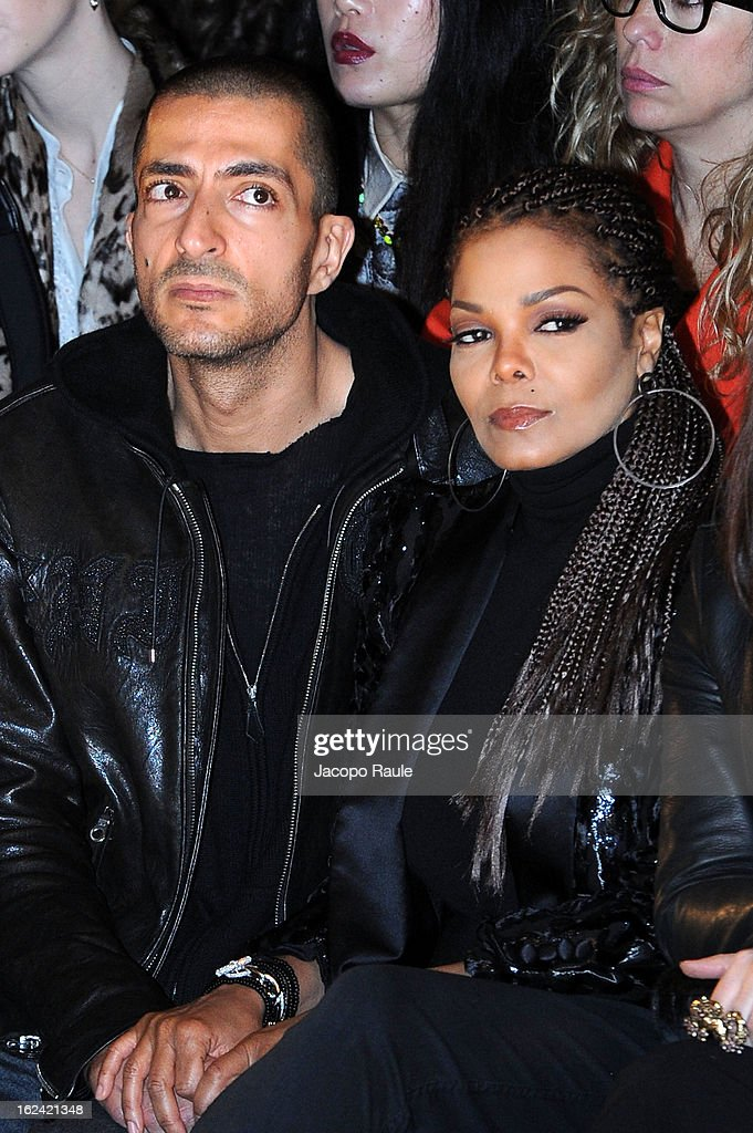 Wissam al Mana and Janet Jackson attend the Roberto Cavalli fashion show as part of Milan Fashion Week Womenswear Fall/Winter 2013/14 on February 23, 2013 in Milan, Italy.