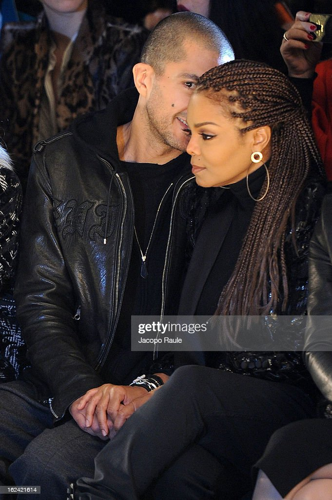 Wissam al Mana and <a gi-track='captionPersonalityLinkClicked' href=/galleries/search?phrase=Janet+Jackson&family=editorial&specificpeople=156414 ng-click='$event.stopPropagation()'>Janet Jackson</a> attend the Roberto Cavalli fashion show as part of Milan Fashion Week Womenswear Fall/Winter 2013/14 on February 23, 2013 in Milan, Italy.