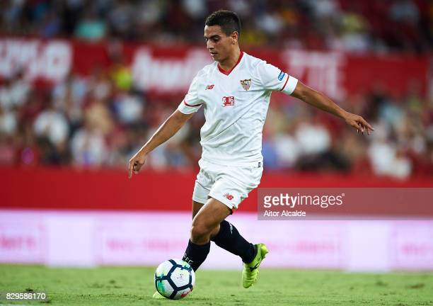 Wissam Ben Yedder of Sevilla FC in action during a Pre Season Friendly match between Sevilla FC and AS Roma at Estadio Ramon Sanchez Pizjuan on...