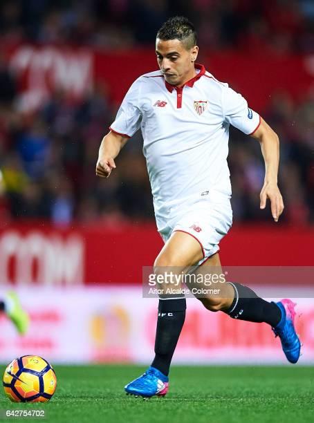 Wissam Ben Yedder of Sevilla FC in action during the La Liga match between Sevilla FC and SD Eibar at Estadio Ramon Sanchez Pizjuan on February 18...