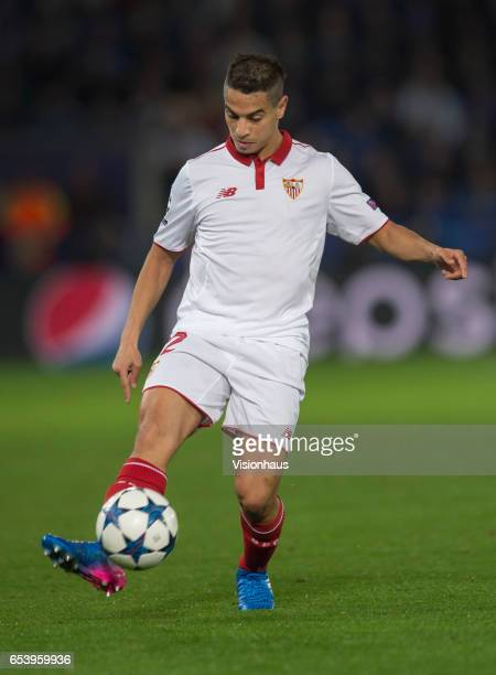 Wissam Ben Yedder of Sevilla FC in action during the UEFA Champions League Round of 16 second leg match between Leicester City and Sevilla FC at The...
