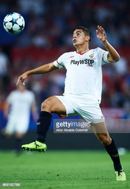 Wissam Ben Yedder of Sevilla FC in action during the UEFA Champions League group E match between Sevilla FC and Spartak Moskva at Estadio Ramon...