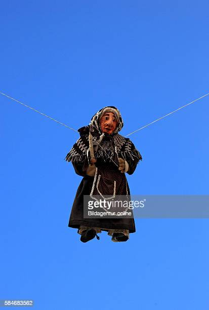 Witch at easter festival Tradition in Puglia Locorotondo Puglia Italy
