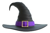 3d illustration of a witch hat