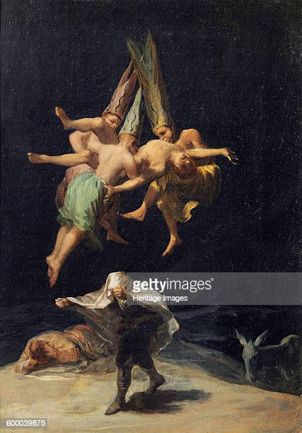 Witches in Flight 17971798 Found in the collection of Museo del Prado Madrid Artist Goya Francisco de
