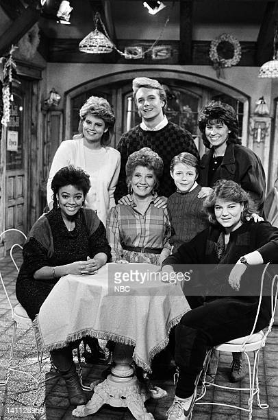 LIFE 'With a Little Help from My Friends' Episode 18 Pictured Kim Fields as Dorothy 'Tootie' Ramsey Charlotte Rae as Edna Garrett Mackenzie Astin as...
