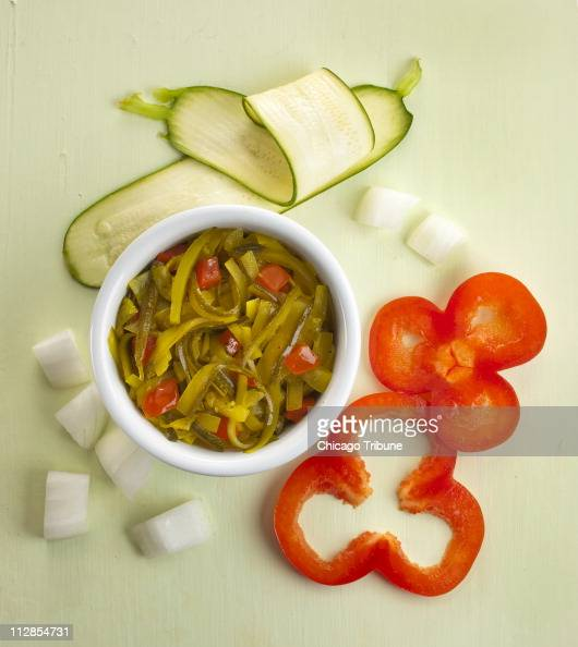 With a little imagination a relish can brighten up a dish Pickled zucchini relish is shown