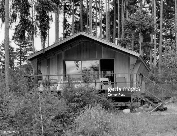 With a week's time a friend's help and approximately $1000 you can build a frame cabin like the one shown here on a piece of resort propertyif you...