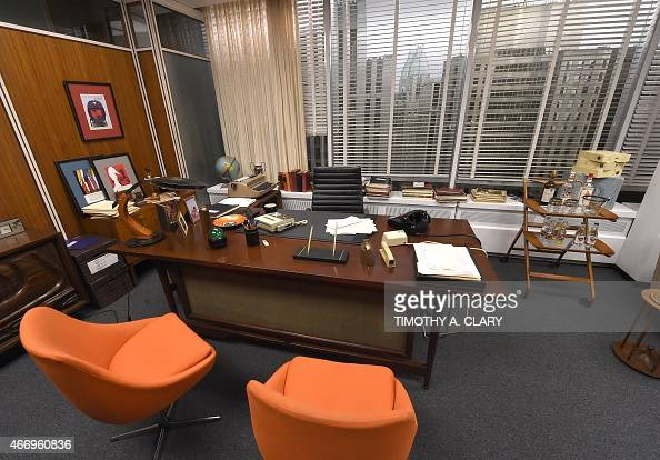 EntertainmentUStelevisionMadMenmuseumFOCUS Don Draper's office at Sterling Cooper Draper Pryce part of Matthew Weiner's 'Mad Men' exhibit is seen at...