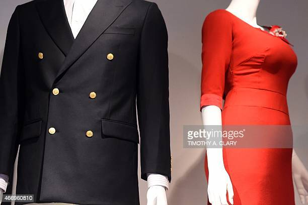 EntertainmentUStelevisionMadMenmuseumFOCUS Some of the outfits worn on the show part of Matthew Weiner's 'Mad Men' exhibit are seen at the Museum of...