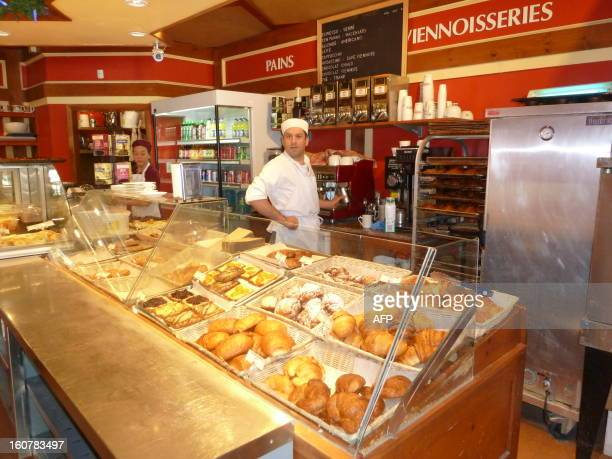 CANADA FrenchLebanese pastry chef De Gaulle Hélou is pictured at his shop Chez De Gaulle on January 26 2013 in Montreal Canada De Gaulle originally...