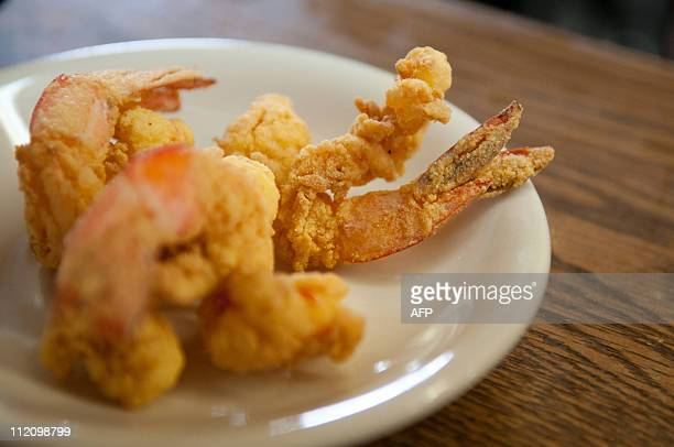 USoilpollutionenvironmentBPtourismFreshly fried locally caught shrimp wait to be taken to a customer at Sarah's Restaurant in Grand Isle LA March 9...