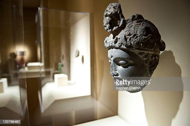 LifestyleUSPakistanartreligionpoliticsexhibition == A 3rd century Bodhisattva head is on display August 10 2011 at the Asia Society Museum in New...