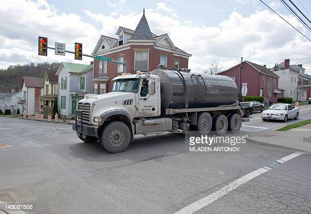 USEnergyGasEnvironment A waste water tank truck passes on the main street of Waynesburg PA on April 13 2012 It is estimated that more than 500...