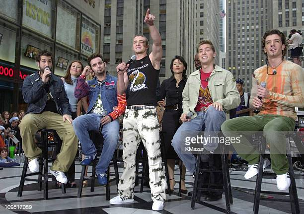 *NSYNC with Ann Curry of the Today Show during *NSYNC Performs on 'The Today Show' Summer Concert Series August 20 2001 at NBC Studios in New York...