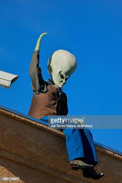 ET with big space head just off Interstate 15 Baker CA Extra Terrestrial highway California