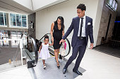 TORONTO ON JULY 14 With camera shy daughter Diar and partner Kiara Toronto Raptors DeMar DeRozan arrives at the Real Sports Bar for a press...