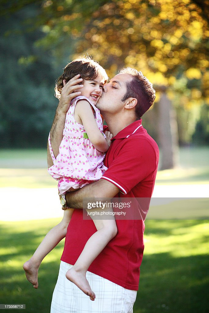 with daddy : Stock Photo