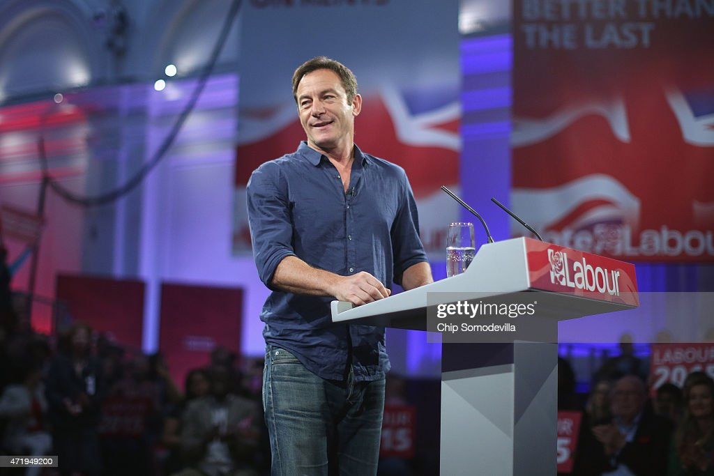 With five days to go before the UK general elections, actor <a gi-track='captionPersonalityLinkClicked' href=/galleries/search?phrase=Jason+Isaacs&family=editorial&specificpeople=212740 ng-click='$event.stopPropagation()'>Jason Isaacs</a> takes the job of master-or-ceremonies before introducing Labour leader Ed Miliband during a campaign rally at the Royal Horticultural Halls on May 2, 2015 in London, United Kingdom. The audience was by invitation only and filled the hall with happy supporters and an enthusiastic crowd for a very American-style campaign event.