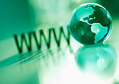 WWW with green globe
