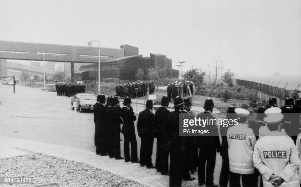With heavy police reinforcements standing at the entrance to the Gascoigne Wood drift mine a car moves swiftly through It was thought to carry two...