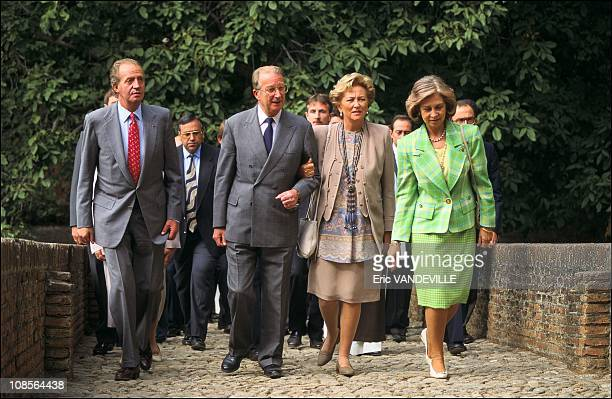 With King Juan Carlos and Sofia in the Yuste Monastery in Cuacos de Yuste Spain on September 21th 1994