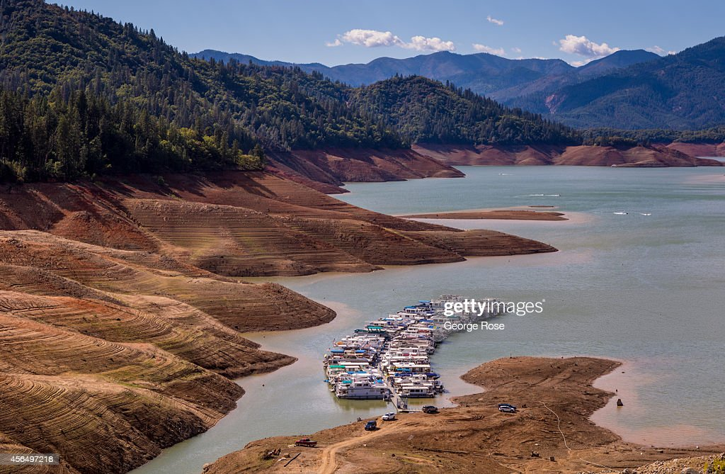With Lake Shasta at 26% capacity, California's largest water reservoir, feeding the Sacramento River, is at historically low levels impacting tourism on September 27, 2014, in Redding, California. With 2013 the driest year in recorded history, and reservoir levels continuing to drop, Governor Jerry 'Edmund' Brown has declared a water 'State of Emergency' for all of California.