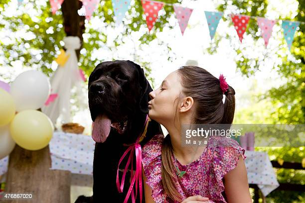 With my pet on my birthday party