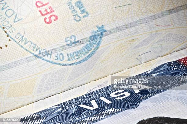 USA VISA with partial stamp