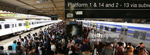 With power surges in Melbourne due to extreme hot weather and parts of the city with a black out Melbourne's train commuters were left to contend...