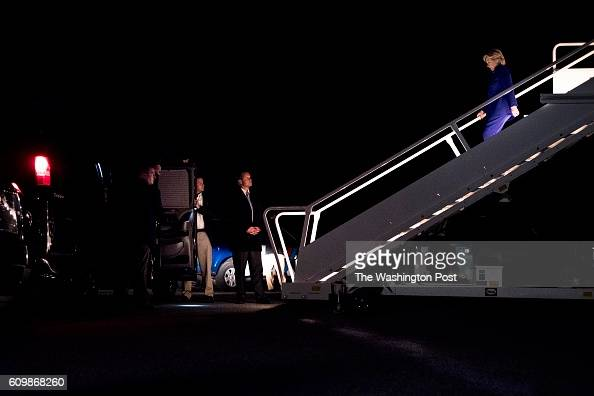 PLAINS NY With Secret Service waiting Democratic Nominee for President of the United States former Secretary of State Hillary Clinton arrives back...