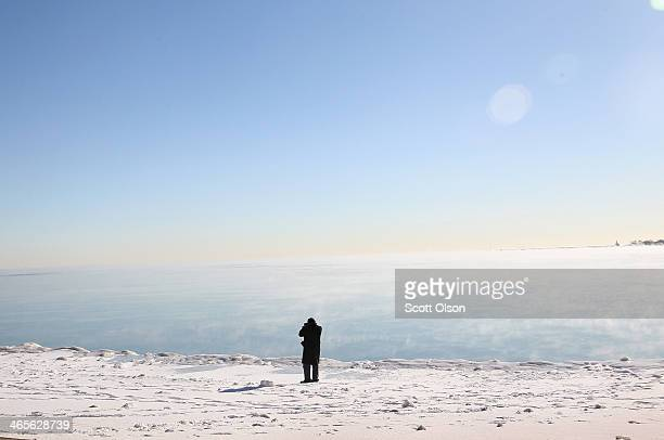 With temperatures hovering around 10 degrees steam rises from Lake Michigan January 27 2014 in Chicago Illinois The city has had 18 days at or below...