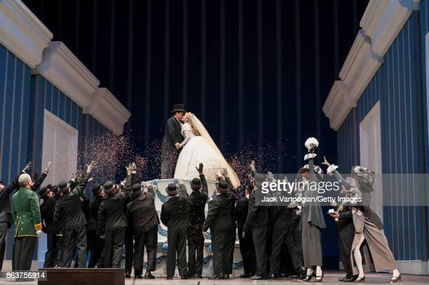 With the company American mezzosoprano Joyce DiDonato and Mexican tenor Javier Camarena perform at the final dress rehearsal prior to the season...