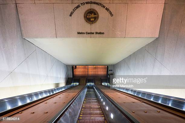 With the DC Metro closed the normally crowded escalators were empty at the entrance to the Metro Center station during the morning rush hours on...