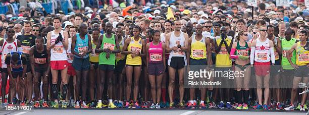 TORONTO OCTOBER 20 With the Elite runners at the head of the crowd the race is about to start Scotiabank Toronto Waterfront Marathon takes over the...