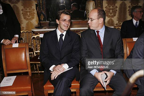 With the minister Francois Baroin in Paris France on January 15 2007