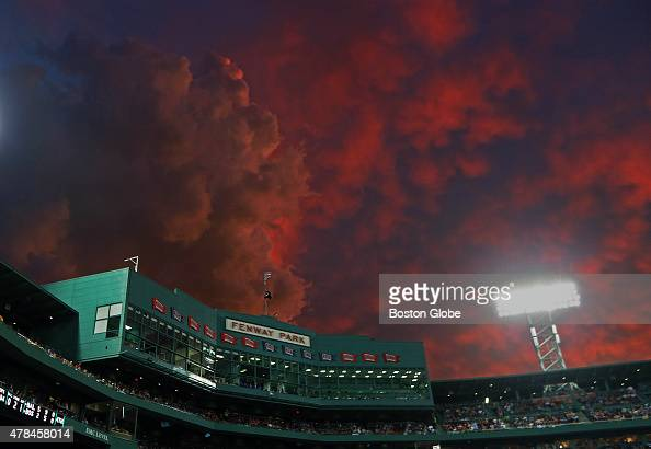With the Red Sox last place team and possible changes on the horizon storm clouds over Fenway Park are both figurative and tonight at least literal...