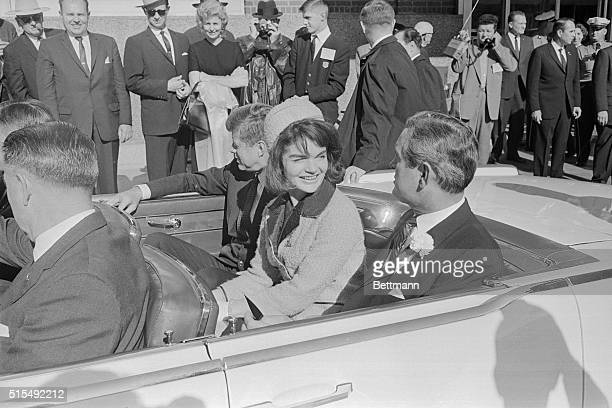 JFK with Wife and John Connally Riding in Motorcade