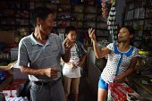 ChinaVietnamDemographicsmarriagelifestyleFEATURE by Tom Hancock This photo taken on July 29 2014 shows Vietnamese bride Vu Thi Hong Thuy chatting...