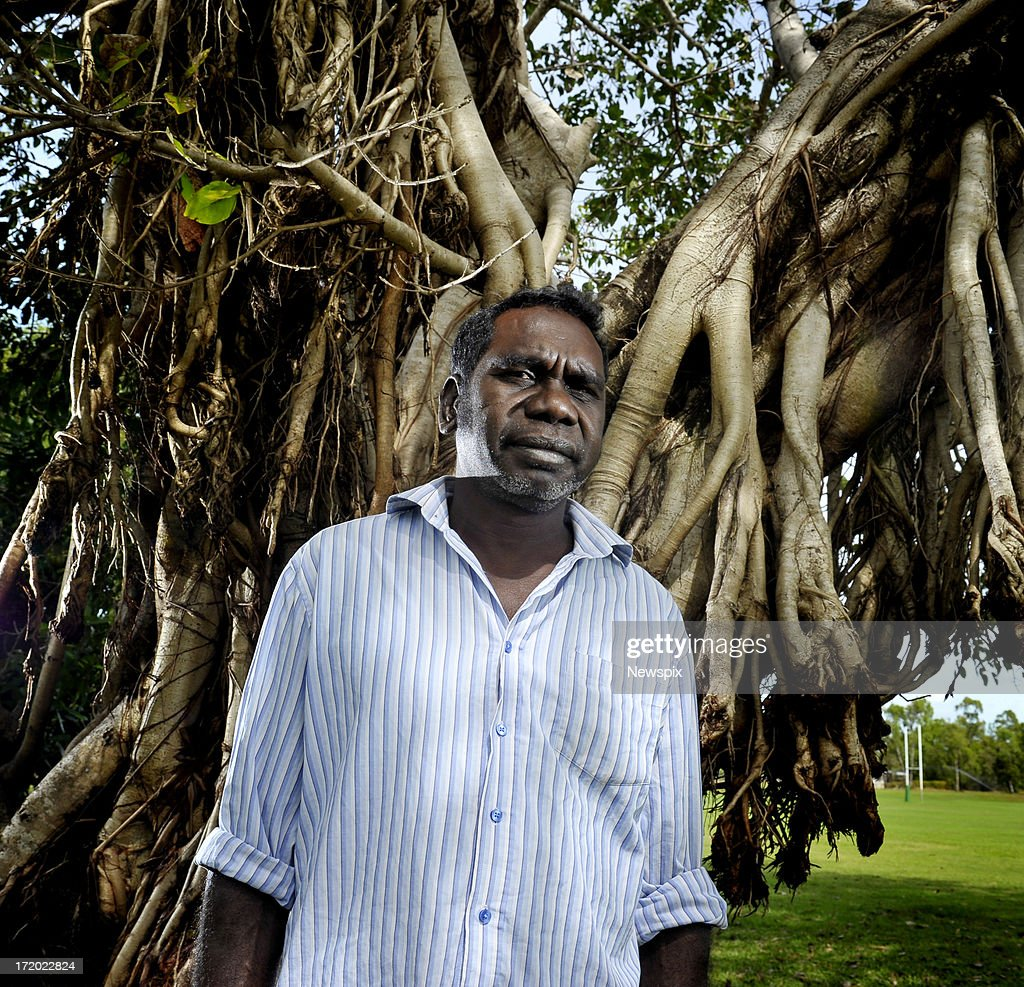 Witiyana Marika, founding member of 'Yothu Yindi' and nephew of 'Yothu Yindi' founder Mr Yunupingu poses ahead of the state memorial service for Mr Yunupingu on June 29, 2013 in Nhulunbuy in the Northern Territory, Australia. Former Yothu Yindi singer and indigenous educator Yunupingu died almost a month ago aged 56.