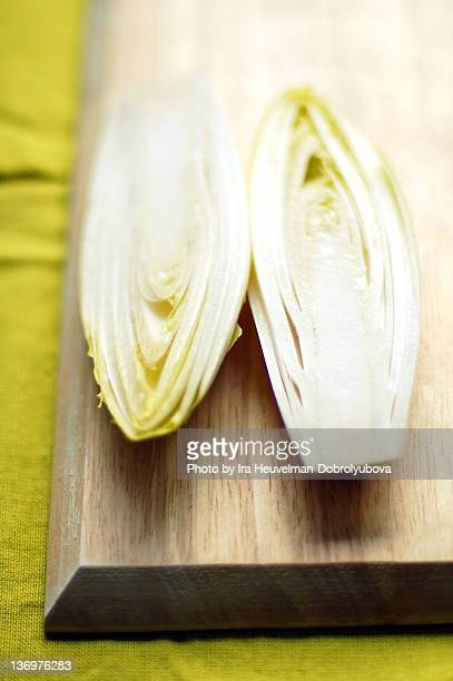 Witlof (Chicory, Belgium endive) cup open