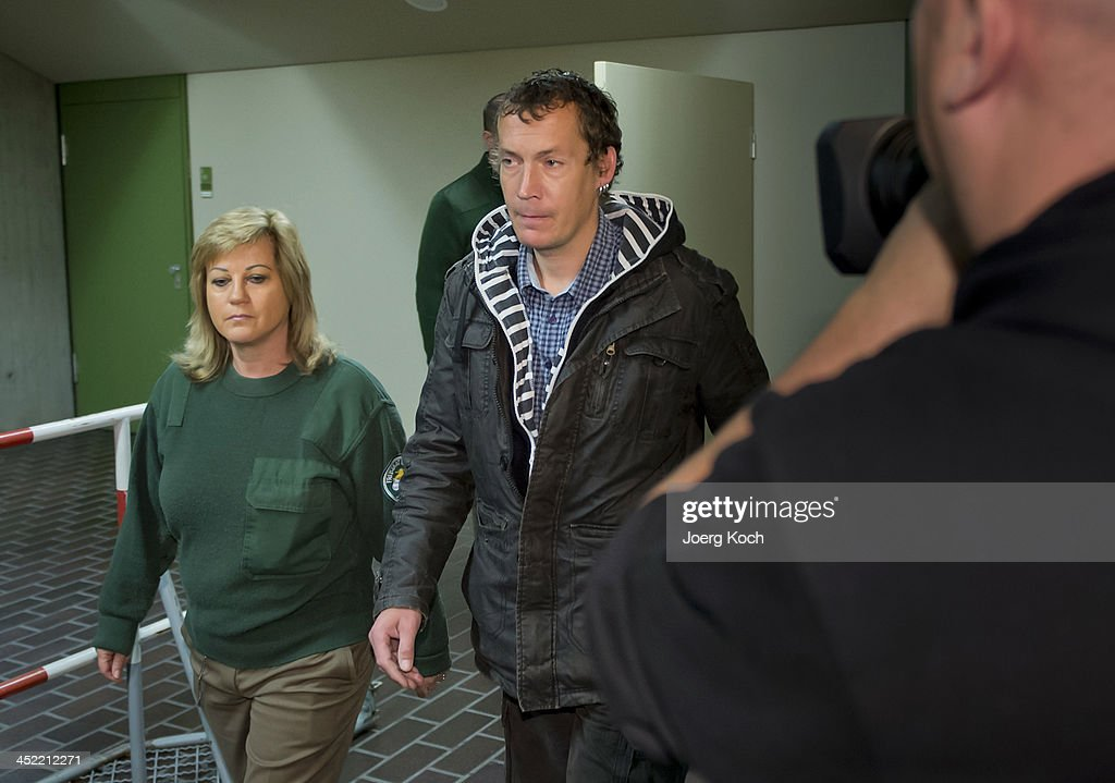 Witness Stefan Apel (M), Cousin of co-defendant Beate Zschaepe arrives to todays NSU neo-Nazi murders trial on November 27, 2013 in Munich, Germany. Among those scheduled to testify in NSU murder trial today are Apel and the mother of Beate Zschaepe. Zschaepe is accused of assisting neo-Nazis Uwe Mundlos and Uwe Boehnhardt in their eight-year murder spree that targeted nine immigrants and one policewoman.