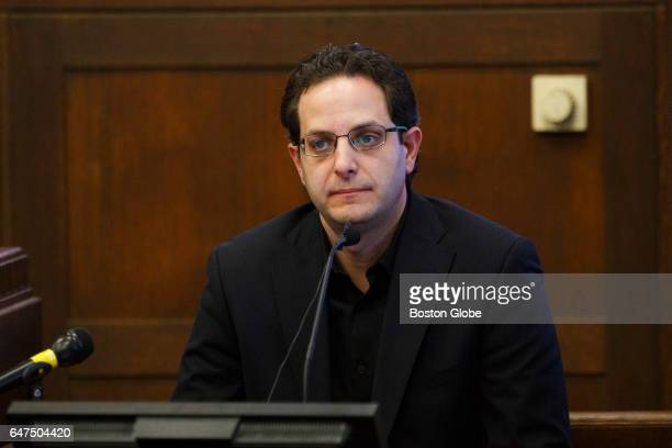 Witness Zeid Nabulsi delivers testimony during the double murder trial of former New England Patriots tight end Aaron Hernandez at Suffolk Superior...