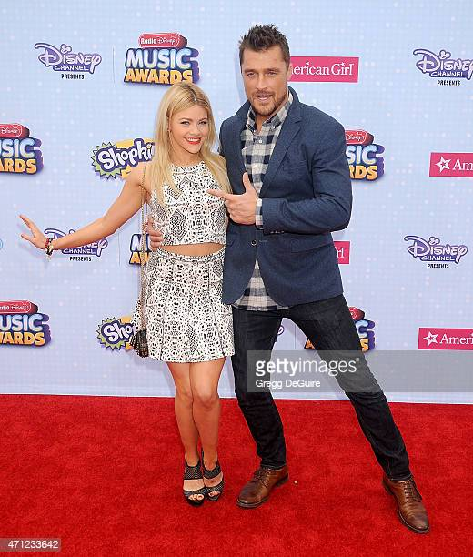 Witney Carson and Chris Soules arrive at the 2015 Radio Disney Music Awards at Nokia Theatre LA Live on April 25 2015 in Los Angeles California