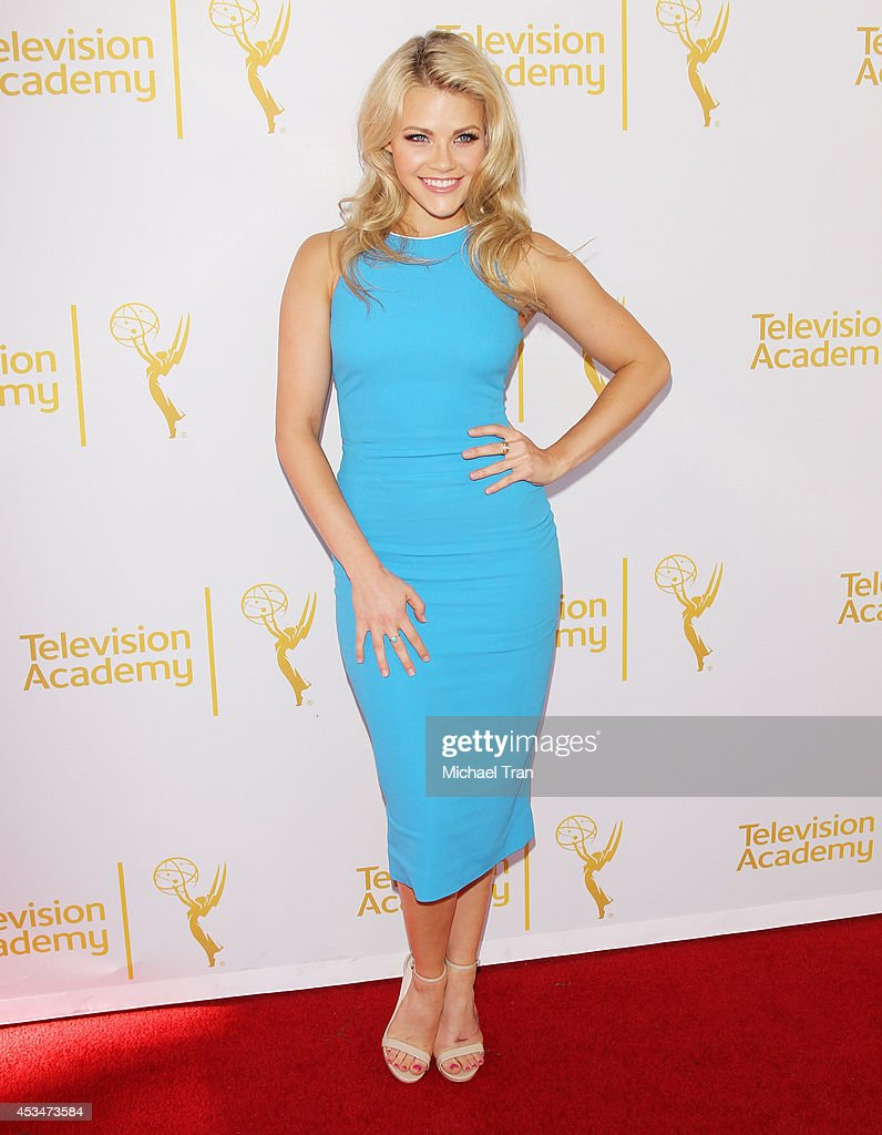 Witney Carson arrives at Television Academy's Directors Peer Group choreographers celebration held at Leonard H. Goldenson Theatre on August 10, 2014 in North Hollywood, California.